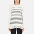 Woolrich Women's Soft Blanket Sweater - Frost White Stripe: Image 1