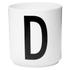 Design Letters Porcelain Cup - D: Image 1