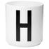 Design Letters Porcelain Cup - H: Image 1