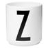 Design Letters Porcelain Cup - Z: Image 1