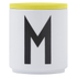 Design Letters Wooden Lid For Porcelain Cup - Yellow: Image 1