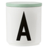 Design Letters Wooden Lid For Porcelain Cup - Green: Image 1