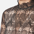 Perseverance Women's Embroidered Paisley Top Bell Sleeves and High Neck Collar - Black/Nude: Image 5