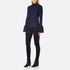 Perseverance Women's Long Sleeve Crepe T-Blouse With Frill Cuff - Navy: Image 4