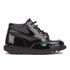 Kickers Kids' Kick Hi Patent Boots - Black: Image 1
