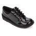 Kickers Kids' Kick Lo Patent Shoes - Black: Image 2