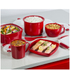 Tower T90813R Microwave Soup Cup 656ml - Red: Image 1