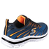 Skechers Kids' Nitrate Trainers - Blue/Orange: Image 2