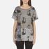 Marc Jacobs Women's Skater Patchwork Cat T-Shirt - Grey/Multi: Image 1