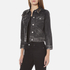 Marc Jacobs Women's Shrunken Denim Jacket - Black: Image 2