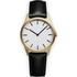 Uniform Wares Men's C35 Pvd Gold B Italian Nappa Leather Wristwatch - Black: Image 1