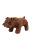 Leather British Bulldog Footstool - Brown: Image 1