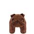 Leather British Bulldog Footstool - Brown: Image 3