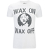 Karate Kid Mens Wax On Wax Off T-Shirt - Wit: Image 1