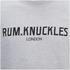 Rum Knuckles Mens London Crew Neck Sweatshirt - Lichtgrijs: Image 3