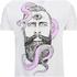 Rum Knuckles Mens Snake Beard T-Shirt - Wit: Image 3