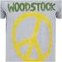 Woodstock Mens Stitch Peace Sign T-Shirt - Grijs: Image 3