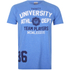 Varsity Team Players Men's University Athletic T-Shirt - Blue: Image 1