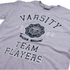 Varsity Team Players Men's Needle & Thread T-Shirt - Grey Marl: Image 3