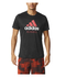 adidas Men's Performance Essentials Running T-Shirt - Black/Red: Image 7