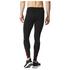 adidas Men's Response Long Running Tights - Black/Red: Image 3