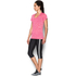 Under Armour Women's Twist Tech V Neck T-Shirt - Knock Out/Metallic Silver: Image 4