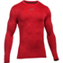 Under Armour Men's ColdGear Jacquard Crew Long Sleeve Shirt - Red/Graphite: Image 1