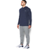 Under Armour Men's Triblend Pullover Hoody - Amidnight Navy: Image 4