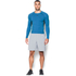 Under Armour Men's Armour HeatGear Long Sleeve Compression Top - Brilliant Blue/Stealth Grey: Image 3