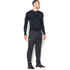 Under Armour Men's ColdGear Jacquard Crew Long Sleeve Shirt - Black/Steel: Image 4