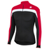 Sportful Pista Thermal Long Sleeve Jersey - Black/Red: Image 1