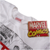 Marvel Men's Mono Comic T-Shirt - White: Image 3