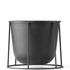 Menu Wire Plant Pot - Black: Image 2