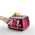 DeLonghi Elements Four Slice Toaster - Red: Image 2