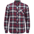 Tokyo Laundry Men's Carlsson Flannel Long Sleeve Shirt - Deep Red: Image 1