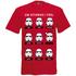 Star Wars Men's Stormtrooper Emotions Christmas T-Shirt - Red: Image 1