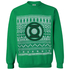 DC Comics Men's Green Lantern Christmas Fairisle Sweatshirt - Green: Image 1