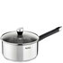 Tefal E8232344 Emotion Stainless Steel 18cm Saucepan with Glass Lid: Image 1