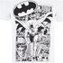 DC Comics Batman Men's Comic Strip T-Shirt - White: Image 4