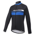 Santini Pilot Thermofleece Long Sleeve Jersey - Blue: Image 1