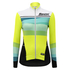 Santini Women's Coral Thermal Long Sleeve Jersey - Yellow: Image 2