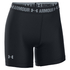 Under Armour Women's HeatGear Armour 5 Inch Middy Shorts - Black: Image 1