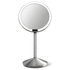 simplehuman Rechargeable Stainless Steel Sensor Mirror with Travel Case - 10x Magnification 12cm: Image 1