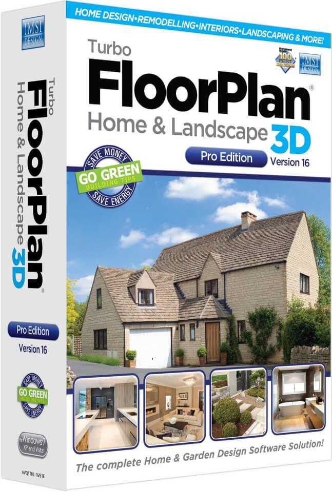 Turbo Floorplan Home Amp Landscape Pro V16 Pc Zavvi