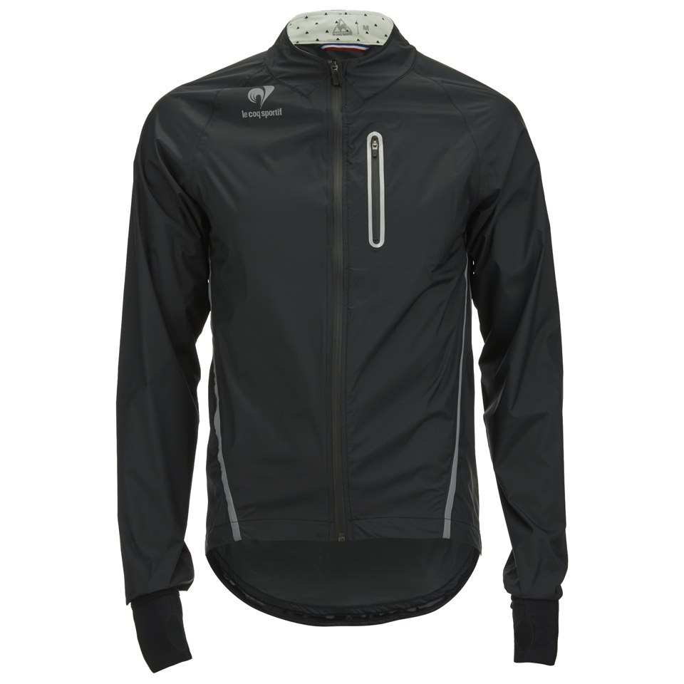 le coq sportif mens cycling performance montech wind jacket black cycling ebay. Black Bedroom Furniture Sets. Home Design Ideas