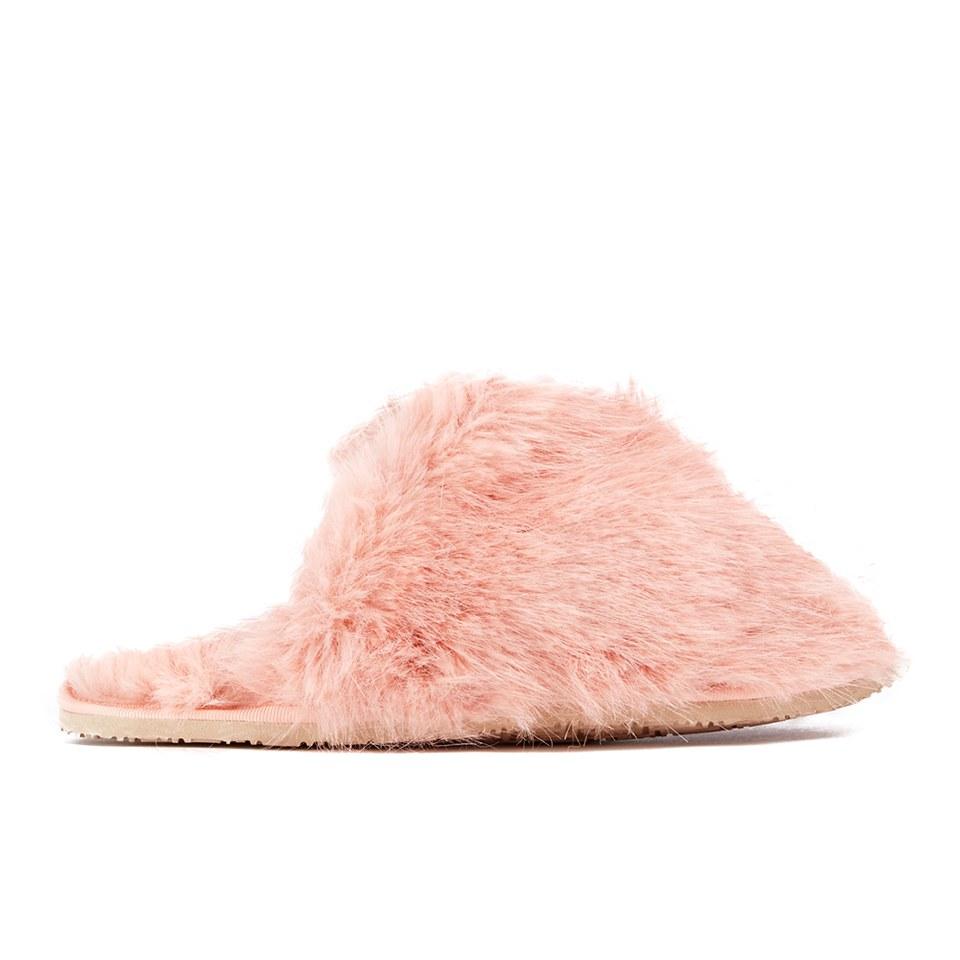 Ted Baker Women S Breae Fluffy Slippers Light Pink Fux