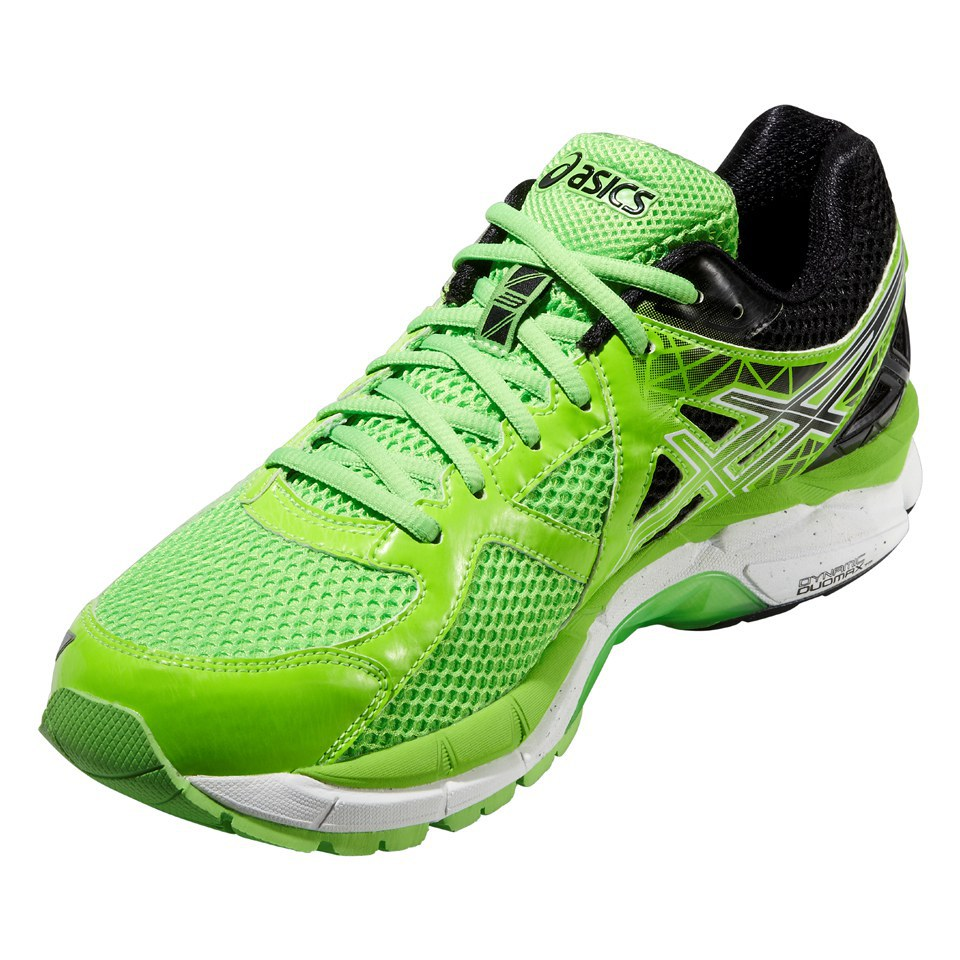Asics Mens GT 2000 3 Running Shoes Flash GreenBlackWhite Sports