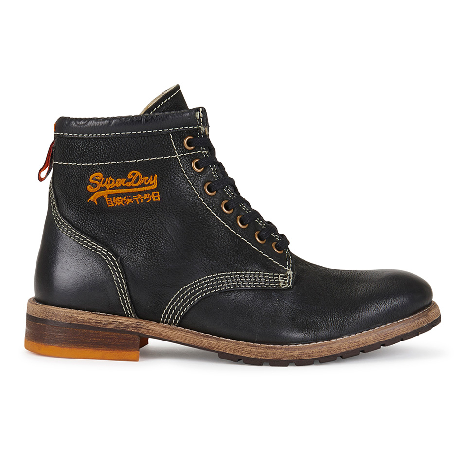 superdry s destroyed lace up work boots black free