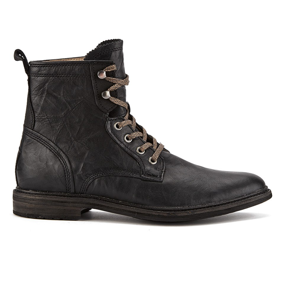ugg s selwood lace up leather boots black free uk