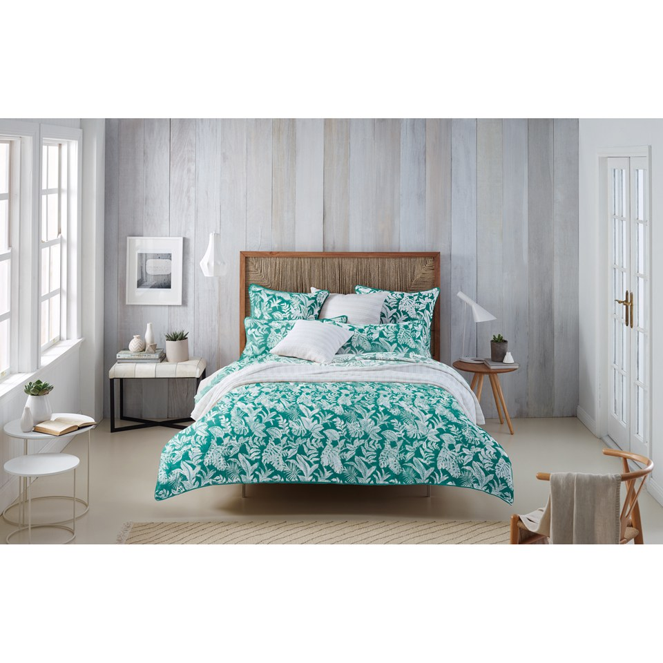 Sheridan Coral Reef Quilt Cover Green Iwoot